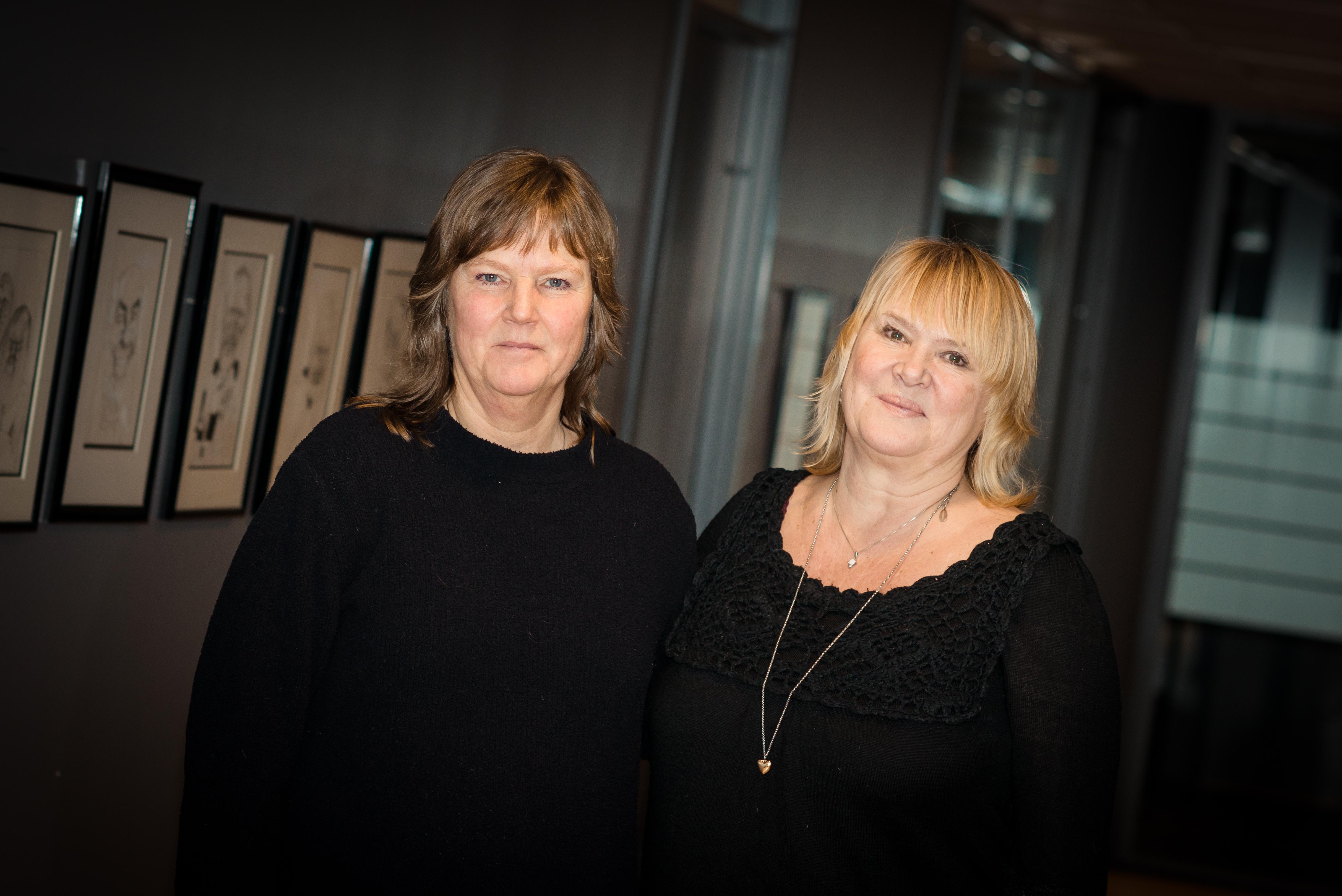 BRUDD: Lise Olsen, nestleder i LO Stat (t.v.) og Jane B. Sæthre, forbundsleder i Norsk Jernbaneforbund under forhandlingene i Bane Nor.