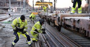 Arbeidere, Bane NOR. Foto: Bjørn Grimstad