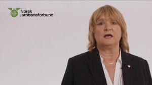 Jane Brekkhus Sæthre, forbundsleder i Norsk Jernbaneforbund